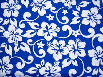 Blue Hibiscus Fabric Pattern